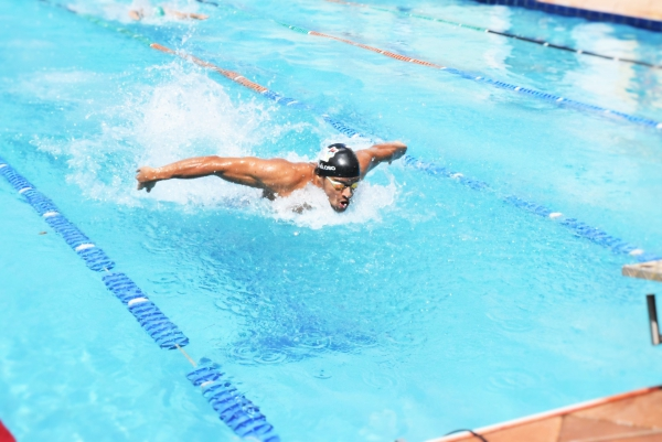 Triathlon swimmers - intensive training